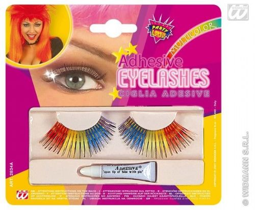 Eyelashes Rainbow With Adhesive Cosmetics